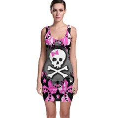 Pink Bow Skull Bodycon Dress