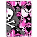 Pink Bow Skull Apple iPad Air Flip Case View1