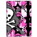 Pink Bow Skull Apple iPad Air Flip Case View2