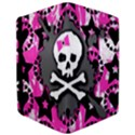 Pink Bow Skull Apple iPad Air Flip Case View3