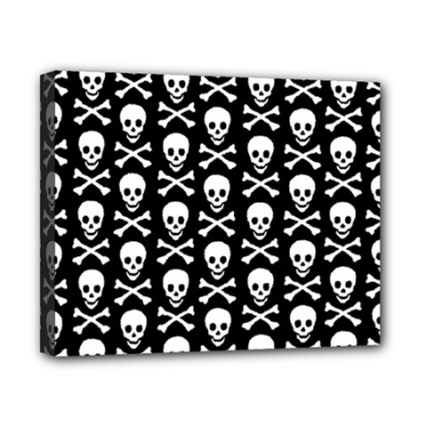 Skull And Crossbones Pattern Canvas 10  X 8  (framed)