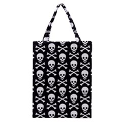 Skull And Crossbones Pattern Classic Tote Bag by ArtistRoseanneJones