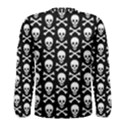 Skull and Crossbones Pattern Men s Long Sleeve T-shirt View2