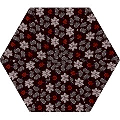 Floral Pattern On A Brown Background Umbrella by LalyLauraFLM