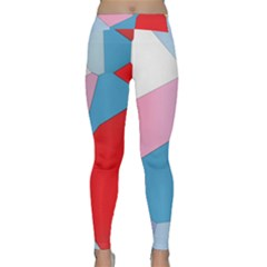 Colorful Pastel Shapes Yoga Leggings by LalyLauraFLM