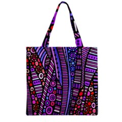 Stained Glass Tribal Pattern Grocery Tote Bag by KirstenStar