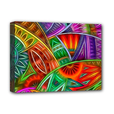 Happy Tribe Deluxe Canvas 16  X 12  (framed)  by KirstenStar
