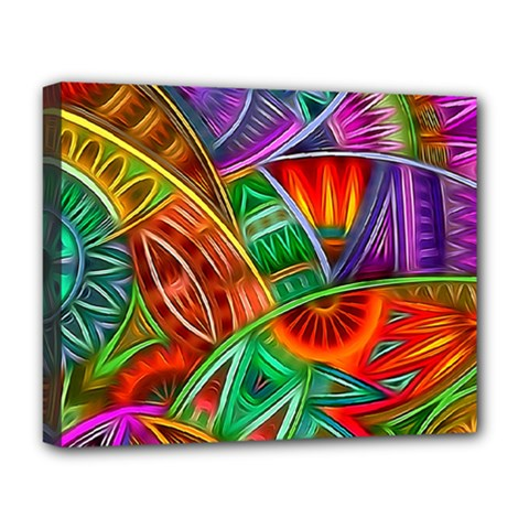 Happy Tribe Deluxe Canvas 20  X 16  (framed) by KirstenStar