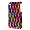 Rainbow Psychedelic Waves Apple iPhone 3G/3GS Hardshell Case (PC+Silicone) View3