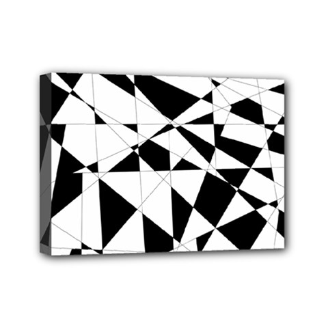Shattered Life In Black & White Mini Canvas 7  X 5  (framed) by StuffOrSomething