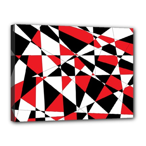 Shattered Life Tricolor Canvas 16  X 12  (framed) by StuffOrSomething
