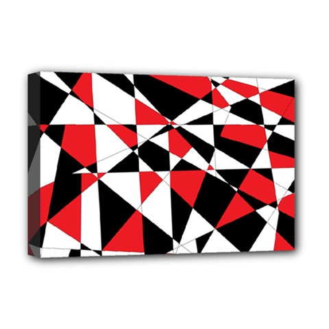 Shattered Life Tricolor Deluxe Canvas 18  X 12  (framed) by StuffOrSomething