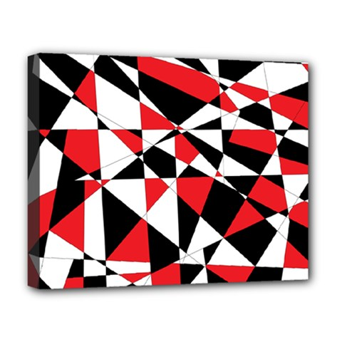 Shattered Life Tricolor Deluxe Canvas 20  X 16  (framed) by StuffOrSomething