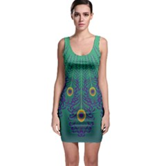 Peacock Emerald Bodycon Dress by olgart