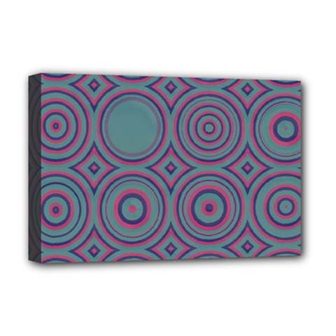 Concentric Circles Pattern Deluxe Canvas 18  X 12  (stretched) by LalyLauraFLM