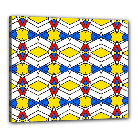 Colorful Rhombus Chains Canvas 24  X 20  (stretched) by LalyLauraFLM