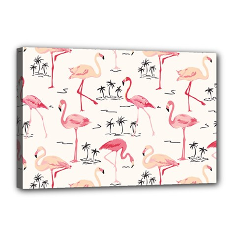 Flamingo Pattern Canvas 18  X 12  by Contest580383