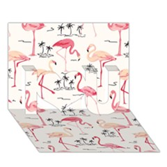 Flamingo Pattern I Love You 3D Greeting Card (7x5)