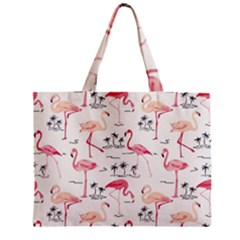 Flamingo Pattern Zipper Tiny Tote Bags
