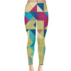 Scattered Pieces In Retro Colors Leggings by LalyLauraFLM
