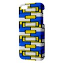 Yellow blue white shapes pattern Apple iPhone 5 Premium Hardshell Case View3
