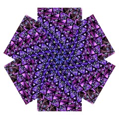 Blue Purple Shattered Glass Mini Folding Umbrellas
