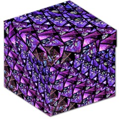 Blue Purple Shattered Glass Storage Stool 12   by KirstenStar