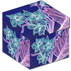 Purple, Pink Aqua Flower Style Storage Stool 12   by Contest1918526