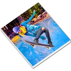 Skateboarding On Water Small Memo Pads by icarusismartdesigns