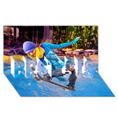 Skateboarding On Water Best Sis 3d Greeting Card (8x4)  by icarusismartdesigns