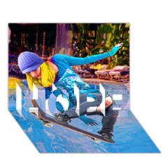 Skateboarding On Water Hope 3d Greeting Card (7x5)