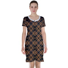 Luxury Modern Baroque Short Sleeve Nightdresses by dflcprintsclothing