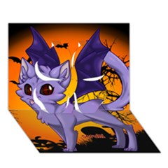 Seruki Vampire Kitty Cat Clover 3d Greeting Card (7x5)  by Seruki