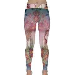 Nature And Human Forces Cowcow Yoga Leggings by infloence