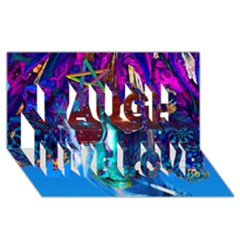 Voyage Of Discovery Laugh Live Love 3d Greeting Card (8x4)  by icarusismartdesigns