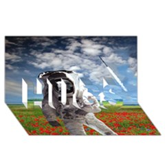 Exodus Hugs 3d Greeting Card (8x4)  by icarusismartdesigns