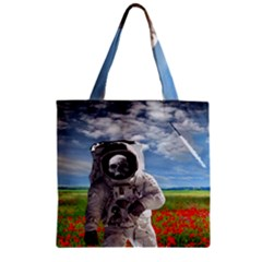 Exodus Zipper Grocery Tote Bags by icarusismartdesigns