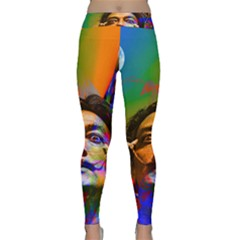 Dream Of Salvador Dali Yoga Leggings by icarusismartdesigns