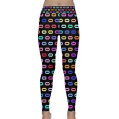 Colorful Round Corner Rectangles Pattern Yoga Leggings by LalyLauraFLM