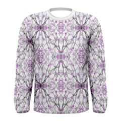 Geometric Pattern Nature Print Men s Long Sleeve T-shirts by dflcprintsclothing