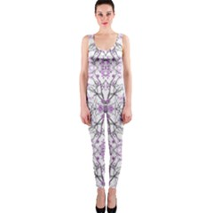 Geometric Pattern Nature Print Onepiece Catsuits by dflcprintsclothing