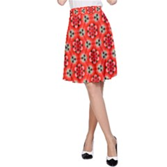 Lovely Orange Trendy Pattern  A Line Skirts by creativemom