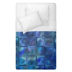 Blue Squares Tiles Duvet Cover Single Side (single Size) by KirstenStar
