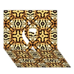 Faux Animal Print Pattern Ribbon 3d Greeting Card (7x5)  by creativemom