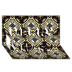 Faux Animal Print Pattern Merry Xmas 3d Greeting Card (8x4)  by creativemom