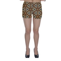 Faux Animal Print Pattern Skinny Shorts by creativemom