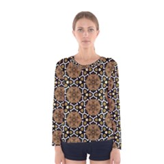 Faux Animal Print Pattern Women s Long Sleeve T Shirts by creativemom