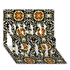 Faux Animal Print Pattern Work Hard 3d Greeting Card (7x5)  by creativemom