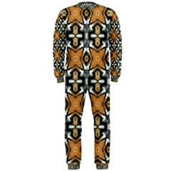 Faux Animal Print Pattern Onepiece Jumpsuit (men)  by creativemom