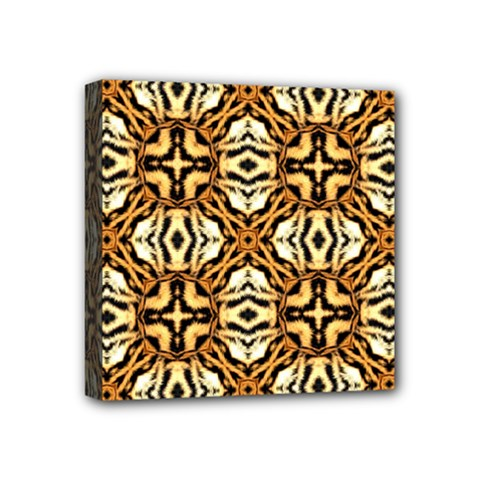 Faux Animal Print Pattern Mini Canvas 4  X 4